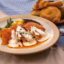 チキンのグリル トマトてりやきチーズの2色ソース210