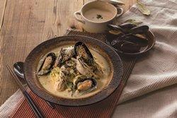 広島産牡蠣とムール貝のチャウダー風パスタ①_250
